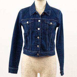Vintage Levi's M Cotton Dark Wash Jean Jacket
